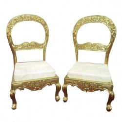 Ethnic Design Varmala Sofa - Wedding Sofa - Made of  Wood & Metal - Pair Of 1 (2 Pieces) White Color