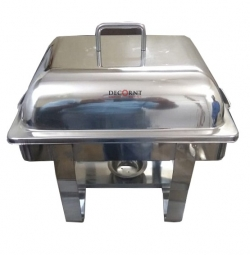 6 LTR- Chafing Dish - Garam Set - Hot Pot - Rectangle - Made of Stainless Steel