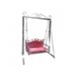 Swing - Jhula - Garden Swing - Made of Stainless Steel - Maroon Color.
