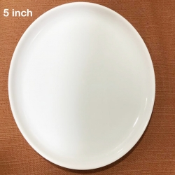 5 Inches Chat Plates - Snacks Plate - Made Of Food-Grade Virgin Plastic Material - White Color