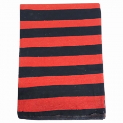 9 FT X 18 FT - Premium - Heavy Acrylic - Dari - Dhurrie - Rugs - Satranji - Floor Mat - Red & Black color - Weight  - 4.5 Kg