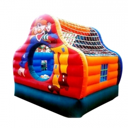 Inflatable Bouncy - Commercial Grade Bouncy House with Blower - 6 x 10 x 10 feet - Made of 100% PVC
