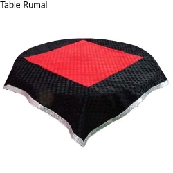 4 FT X 4 FT - Round Table Cover - Made of Premium Quality Brite Lycra - Top Velvet Fabric Cloth - Red & Black Color
