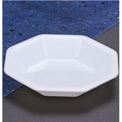 4.4 Inches Snacks Plates - Chat Plates Made Of Food Grade Virgin Plastic Material - White Color