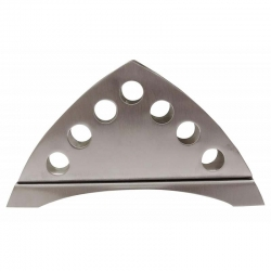 4 Inch - Matte Finish Triangular Design Napkin Holder by Intestacy - Made of Stainless Steel