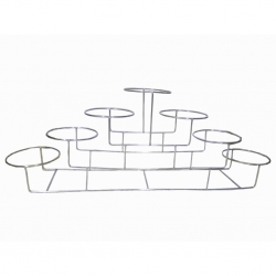 15 Inch - Salad Stand - Four-Tier Seven Rings Shaped Racks - Made of Stainless Steel