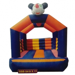 Party attraction Inflatable Bouncy - Outdoor & Indoor Bouncy - Commercial Grade Bouncy with Blower - 9 feet x 11 feet - Made of  100% PVC