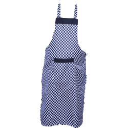 Cotton Kitchen Apron With Front Pocket White And Black