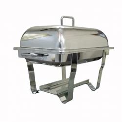 8 LTR - Chaffing Dish - Garam Set - Hot Pot - Rectangular Shape - Made of Stainless Steel
