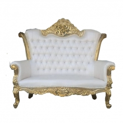 White Color - Jaipur - Rajasthani - Heavy - Couches - Sofa - Wedding Sofa - Wedding Couches - Made Of Wooden & Metal