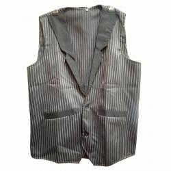 Waiter - Bearer - Bartender Coat Or Vest - Kitchen Uniform Or Apparel For Men - Full-Neckline - Sleeve-less - Made Of Premium Quality Polyester & Cotton - Black Color (Available size 38 , 40 , 42 , 44 , 46 , 48)