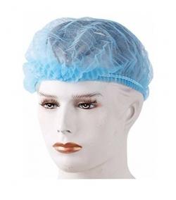 Disposable Stretchable Blue Bouffant Caps / Surgical Caps/Cooking Caps;