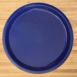 Serving Platter - 16 Inches Round Tray - Made of Pure Virgin Plastic - Blue Color