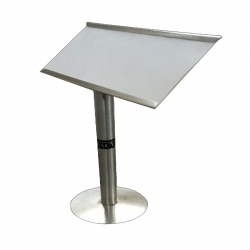 8 Inch - Menu Stand - Menu Card Holder - Made Of Stainless Steel - Pipe holder