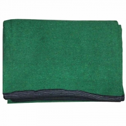 7 FT X 10 FT - Premium - Heavy Acralyic - Dari - Dhurrie - Rugs - Satranji - Floor Mat - Green color - Weight - 2.2 Kg