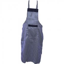 Cotton Kitchen Apron With Front Pocket Black & White  Color