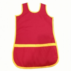 Red Color Cotton Waiter Apron