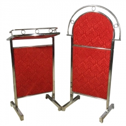 5 FT - Podium Cum Welcome Board - Swagat Board - Dies - Made of Stainless Steel - Red Color