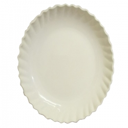 5 Inch - Chat Plates - Dahi Bhalla Plate - Made of Regular Plastic - White Color