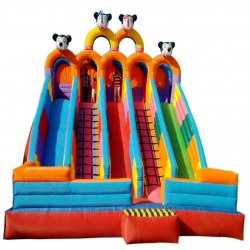 18 x 17 x 14 FT - Inflatable HQ Commercial Grade Bouncy - Slide Bouncy with Blower - Made of 100% PVC