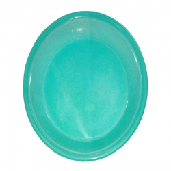 5 Inch - Chat Plates - Dahi Bhalla Plate - Made of Regular Plastic - Green Color