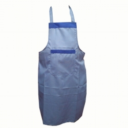 Cotton  Kitchen Apron with Front Pocket Blue Colour