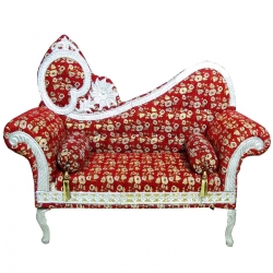 Wedding Reception Sofa Made of Wood & Metal - Red Color.