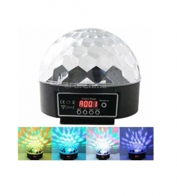 LED Crystal Magic Ball - Rotating Light - RGB Stage Special Light Effect