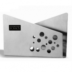 4 Inch - Stainless Steel Matte Finish Squre Design Napkin Holder