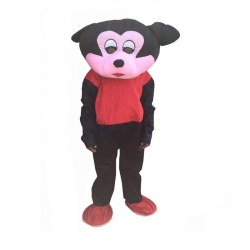 Adult Mascot - Micky Mouse Costume - Party Mascot - Made of high quality plush material - Pack of 1 - Black color