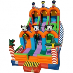 Bouncy Slide - Inflatable Slide with Blower -  15 feet x 26 feet - Made of 100% PVC