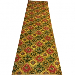 5 FT X 15 FT Multi color Galicha - Printed Galicha - Carpet - Floor Mat - Mat - Made of Cotton Material - Weight ( 7.5 KG )