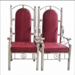 Maroon Color - Wedding Chair - Varmala Chair - Chair Set - Mandap Chair - Lagan Mandap Chair - Steel Chair - Made Of Stainless Steel