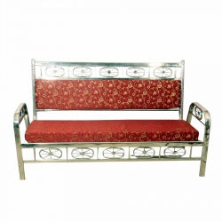 Royal VIP Sofa Made of Stainless Steel - 3 Seater - Red Color.