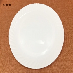 6 Inch - Chat Plates - Made Of Food-Grade Virgin Plastic - White Color
