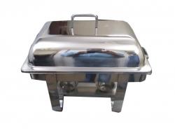 8 LTR - Chafing Dish - Garam Set - Hot Pot - Rectangular - Made of Stainless Steel