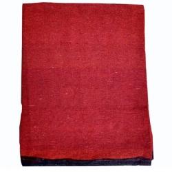 9 FT X 18 FT - Premium - Heavy Acralyic - Dari - Dhurrie - Rugs - Satranji - Floor Mat - Red color - Weight - 4.5 Kg