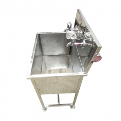 Two Taps - Wash Basin -Hand Wash Basin - Tent Wash basin - Hand Wash Sink - Made of High Quality Stainless Steel