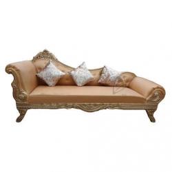 Saharanpur Design Sofa - Made Of Wood & Fome - Light Brown.
