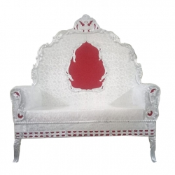 White Color - Regular - Couches - Sofa - Wedding Sofa - Maharaja Sofa - Wedding Couches - Made Of Wooden & Metal