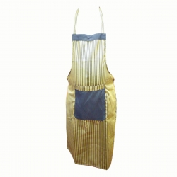 Cotton Kitchen Apron With Front Pocket Yellow & Black Color