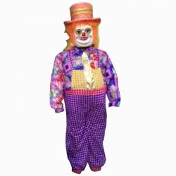Joker Costume - Cartoon Mascot - Party Mascot - Made of high quality plush material - Pack of 1 - Multi-color