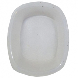 5 Inch - Round Chat Plate - Snack Plate - Made Of Food Grade Regular Plastic - White Color