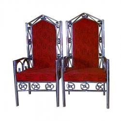 Duhla Dulhan Seat -Varmala Chair - Wedding Chair - Made Of Stainless Steel - Pair Of 1 (2 Pieces) Red Color.