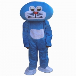 Cartoon Costume - Adult Mascot Mascot - Party Mascot - Made of High Quality Plush Material - Pack Of 1 - Sky Blue Color