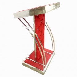 4 FT - Podium - Lecterns - Presentation Desk - Speech Stand - Presentation Stand - Made of Stainless Steel - Red Color