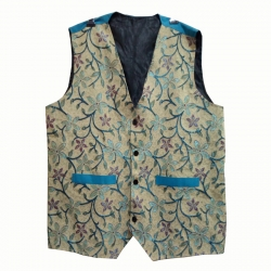 Waiter - Bearer - Bartender Coat Or Vest - Kitchen Uniform Or Apparel For Men - Full-Neckline - Sleeve-less - Made Of Premium Quality Polyester & Cotton - Multi Color (Available size 38 , 40 , 42 , 44 , 46 , 48)