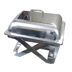 8 LTR - Chafing Dish - Garam Set - Hot Pot - Rectangular - Made of Stainless Steel