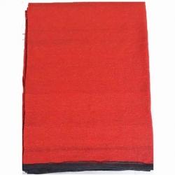 12 FT X 15 FT - Regular Quality - Dari - Dhurrie - Rugs - Satranji - Floor Mat - Red color - Weight  - 6.5 Kg