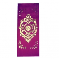 5 FT X 10 FT - Decoration Background Curtain - Entrance Decoration Made Of Velvet Fabric With Designing Of Moti Sitara Work - Purple Color